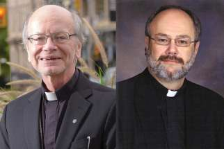 Bishop Robert Kasun and Fr. David Reilander