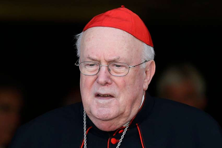 Cardinal Godfried Danneels, 85, retired archbishop of Mechelen-Brussels, Belgium, died March 14, 2019, in Mechelen. He is pictured leaving a session of the extraordinary Synod of Bishops on the family at the Vatican in this Oct. 9, 2014, file photo.