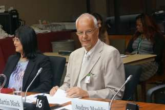 Martin Mark, right, the director of the Archdiocese of Toronto's Office for Refugees, made an appeal last July before the House of Commons Citizenship and Refugee Committee to help Yazidis facing genocide in Iraq from ISIS.