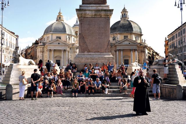 St. Casimir's youth and young adults, seen above in Rome, will travel to Kraków, Poland, for World Youth Day 2016.