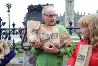 Joe Gunn on Parliament Hill for Chew on This.