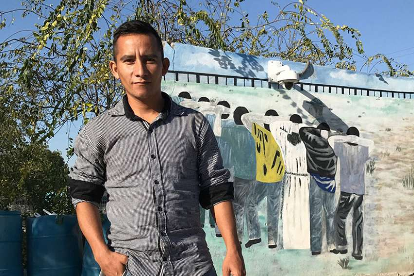 Edelmiro Cardona poses for a photo in Saltillo, Mexico. He has decided to stay in Mexico rather than cross into the United States.