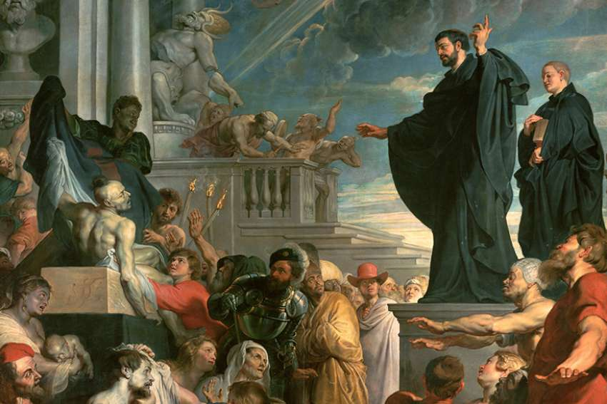 The miracles of St. Francis Xavier, oil on canvas by Peter Paul Rubens, 1618