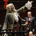 Ivars Taurins masquerades as composer G.F. Handel during Tafelmusik's Sing-Along Messiah