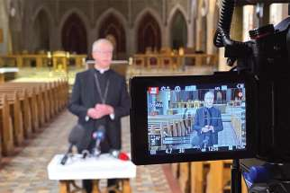 """When people are afraid and anxious, this is when I would invite them to remember that we are a people of faith,"" Edmonton Archbishop Richard Smith said at a press conference at St. Joseph's Basilica after all Masses were suspended in the wake of COVID-19. ""We recognize that God has our back, God does not let us down and He's never aloof.  Trust that God is drawing close to us — that's the reason for our hope."""