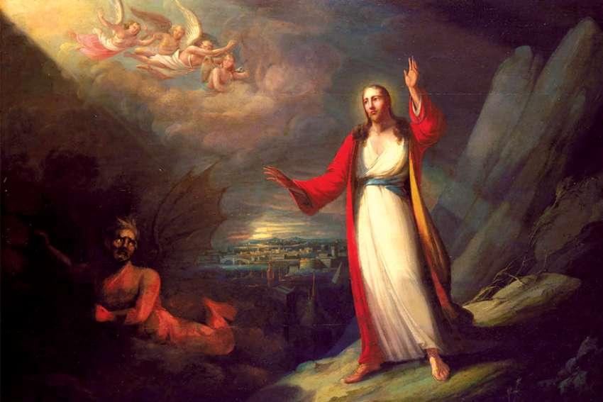 John Ritto Penniman's 1818 painting Christ Tempted by the Devil.