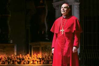 David Suchet stars as Cardinal Giovanni Benelli in The Last Confession, playing in Toronto until June 1.