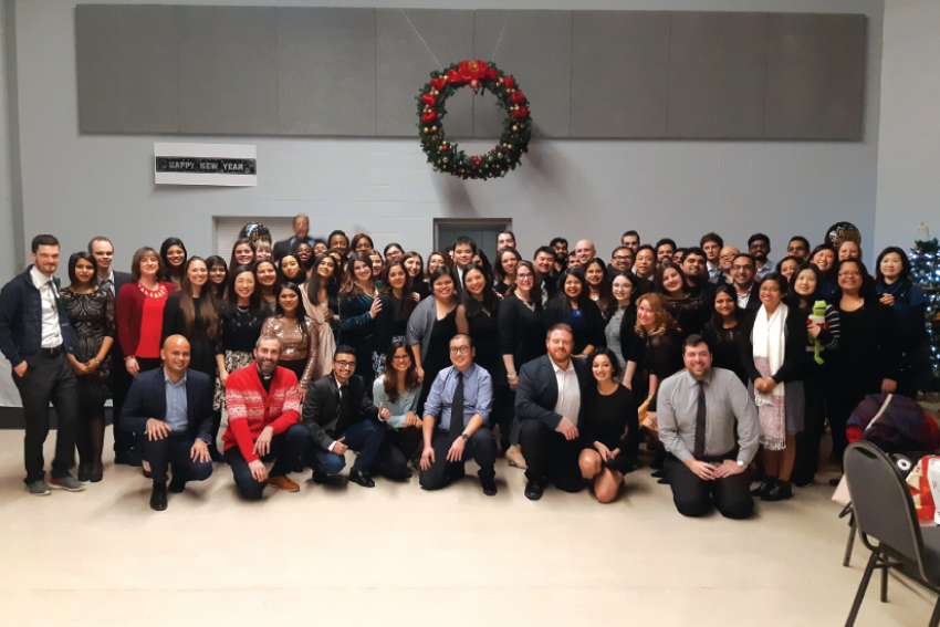 Toronto's Office of Catholic Youth hosted a New Year's Eve dinner and dance for young adults (age 19-39) who wanted to celebrate with fellow faith-filled Catholics.