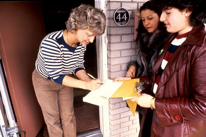 In the late 1970s and '80s, ShareLife canvassers went door-to-door in neighbourhoods throughout the Archdiocese of Toronto soliciting funds from Catholics for the annual campaign. ShareLife also used to hold an annual family walk-a-thon to raise funds. The first walk was held in 1996.