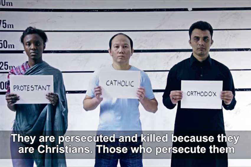 Pope Francis' latest prayer video focuses on persecuted Christians around the world.