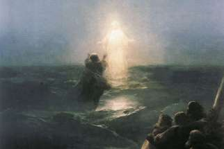 Jesus walks on water, by Ivan Aivazovsky