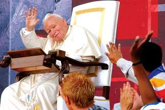 Pope John Paul II celebrated his final international World Youth Day in Toronto in 2002. The trip was one of 104 trips outside of Italy to 129 countries.