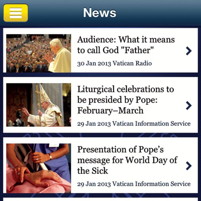 'Pope App' brings Vatican to the palm of your hand