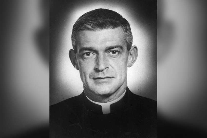Maryknoll Father Vincent R. Capodanno, a Navy chaplain who was killed while serving with the Marines in Vietnam, is pictured in an undated photo. Fifty years after he put himself between a wounded Marine and fatal enemy gunfire, a new documentary recalls the life, faith and sacrifice of the priest, who is a candidate for sainthood.