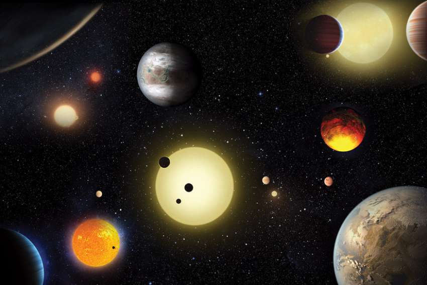 This artist's concept depicts select planetary discoveries made by NASA's Kepler space telescope.