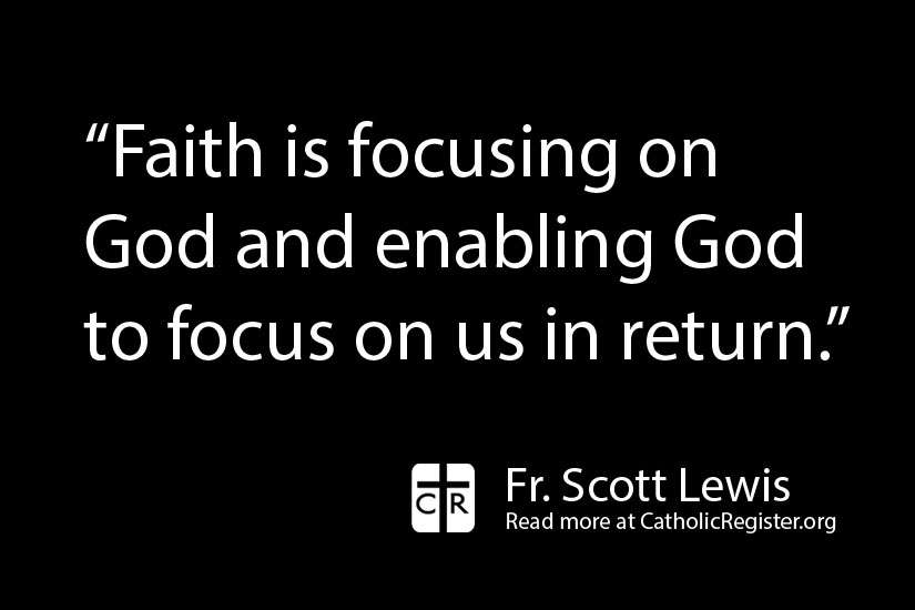 Fr. Scott Lewis writes that faith is more than just a warm feeling, it is a powerful tool that a righteous person lives their life by.