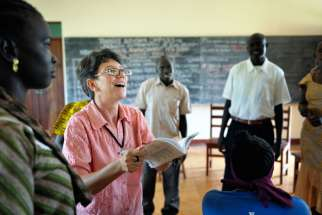 Sister Sandra Amado, a Comboni sister from Brazil, teaches a class in 2012 at a teacher training institute in Yambio, South Sudan. A late-December attack on religious sisters at the training institute in South Sudan has shaken and saddened the church, a church leader said.