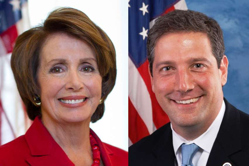 Both current U.S House minority leader, Nancy Pelosi, left, and her challenger, Rep. Tim Ryan of Ohio, profess to be Catholic but also support legalized abortion.
