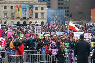 Thousands took to Parliament Hill and the streets of Ottawa for the annual National March for Life May 9.