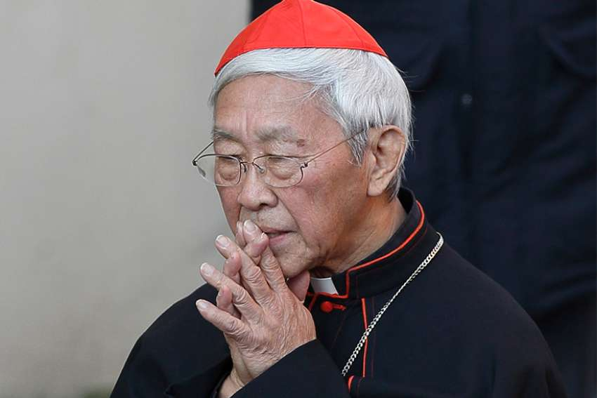 Cardinal Joseph Zen Ze-kiun, retired bishop of Hong Kong, is pictured in 2013 at Castel Gandolfo, Italy. The cardinal made a sudden decision to go to Rome on Jan. 10, 2018 to ensure that the Pope would hear his concerns regarding the Vatican's recent efforts of unification with China's communist government.
