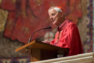 "Washington Cardinal Donald W. Wuerl delivers the homily during a Sept. 14 Mass at the Cathedral of St. Matthew the Apostle in Washington. The Mass, held on the feast of the Exaltation of the Holy Cross, marked the start of a six-week ""Season of Healing"" for the archdiocese."
