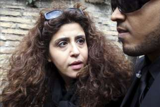 Italian laywoman Francesca Chaouqui arriving the trial at the Vatican on March 14. Chaouqui is one of five people on trial for leaking confidential Vatican documents that were published in two books. (CNS photo/Alessandro Bianchi, Reuters)