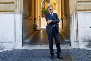 Carmelo Barbagallo, president of the Vatican's Supervisory and Financial Information Authority, poses in a July 2, 2020, photo. Pope Francis has approved a new statute for the Vatican's financial watchdog agency to improve independence and oversight powers.