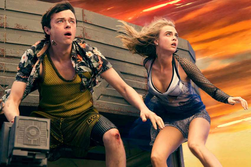 "Dane DeHaan and Cara Delevingne star in a scene from the movie ""Valerian and the City of a Thousand Planets."""