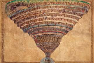 "A illustration by Sandro Botticelli of the infernal abyss from Dante Alighieri's ""Divine Comedy"" is part of the manuscript collection of the Vatican Library."