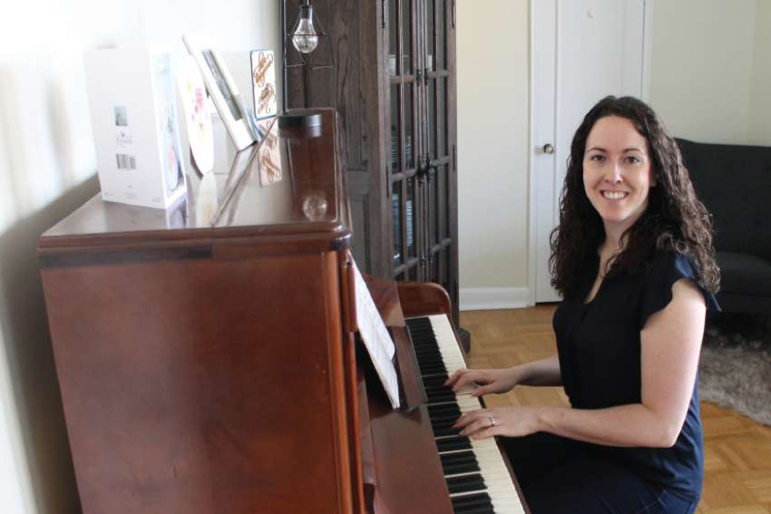 Vanessa Santilli-Raimondo feels right at home with her beloved piano.