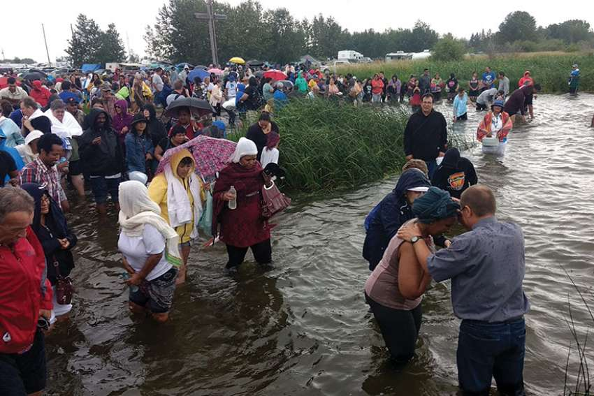 Thousands took part in this year's Lac St. Anne pilgrimage.