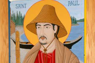 Vancouver's St. Paul's Church has installed a icon of St. Paul made by André Prevost in the style of First Nations art.