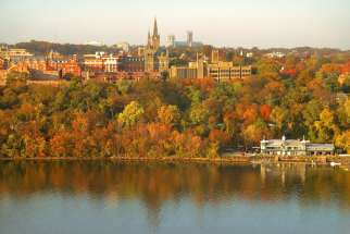 Georgetown University as seen in 2005. The university announced Sept. 1 that it is taking steps towards reconciling with its slaveholding past.