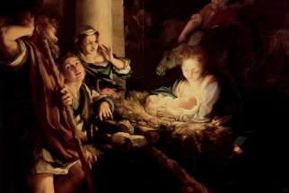 """The Holy Night"", painting by Antonio da Correggio, 1530."