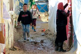 Muslim Syrians are living in squalid conditions in a non-UNHCR refugee camp in Lebanon that is supported by a Melkite Catholic community.