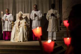 Pope Francis celebrates a Mass marking the World Day for Consecrated Life in St. Peter's Basilica at the Vatican Feb. 1, 2020. The Mass was celebrated on the vigil of the feast of the Presentation of the Lord.