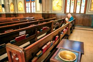 Churches remain open for prayer, but Sunday Masses have been put on hold across much of Canada.