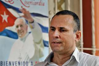 Former political prisoner Jose Daniel Ferrer, who leads the dissent movement Union Patriotica de Cuba, speaks during an interview in Havana Sept. 11. A week before Pope Francis arrived in Cuba, the Communist government agreed to pardon 3,522 prisoners, including elderly and people under 20 with no prior offenses.