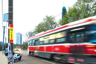 This streetcar stop outside Holy Eucharist Ukrainian Catholic Church on Broadview Avenue, along with 41 others, is to be discontinued by the TTC as of June 7.