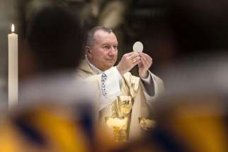 "Cardinal Pietro Parolin, the Vatican's secretary of state, celebrates Mass at St. Peter's Basilica at the Vatican May 6. On Sept. 24 Cardinal Pietro Parolin said ""terrorism represents a fundamental threat to our common humanity"" and its escalation requires the response of a ""shared commitment"" from all nations."