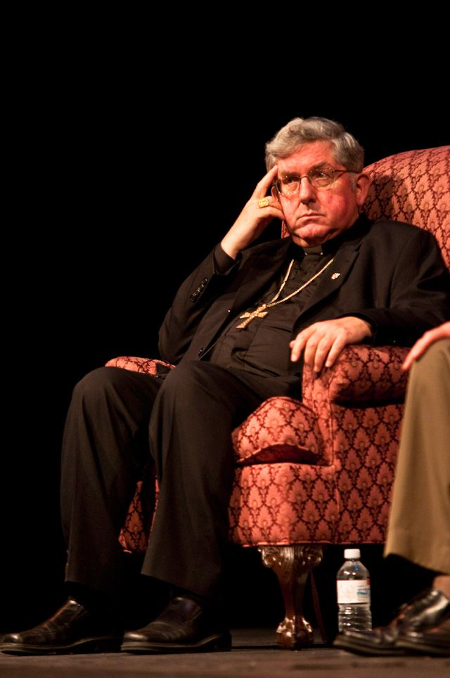 "Cardinal Thomas Collins takes part in a panel discussion following the Toronto premiere of Salt+Light documentary ""Across the Divide"" on Sept. 5th"
