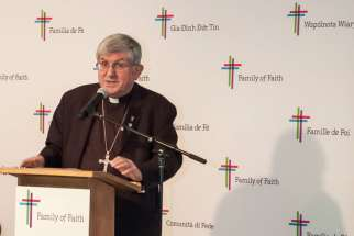 Cardinal Thomas Collins offically launches the $105 million Family of Faith campaign to the public at Toronto's St. Andrew Kim Catholic Church..