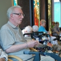 Jack Scriven leads the rosary group at Toronto's Providence Healthcare.