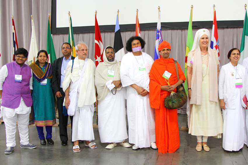 Religious leaders at the 2015 Parliament of World Religions in Salt Lake City, Utah.