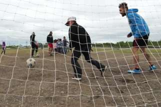 The Bishop Marrocco/Thomas Merton senior boys' soccer team runs a camp in the northern Ontario community of Attawapiskat.