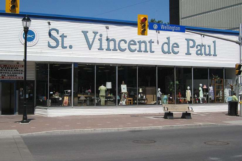 A Saint Vincent de Paul thrift store in Ottawa. The society's Ontario regional council elected Linda Dollard as its new president over the summer. She is the council's first female president.
