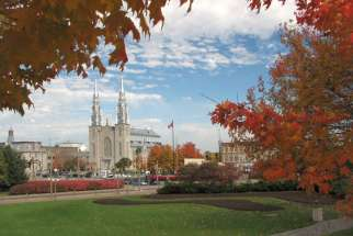 Notre-Dame Cathedral, the seat of Ottawa's archbishop, as seen from Major's Hill Park in 2008. A deceased man's estate is filing a lawsuit against the Archdiocese of Ottawa for sexual abuse.