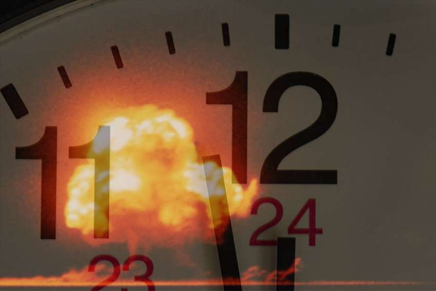 The Atomic Scientists' Doomsday Clock reads two minutes to midnight. Anti-nuclear voices include the 122 nations who endorsed a United Nations treaty last July to classify nuclear weapons as illegal, indiscriminate weapons of mass destruction.