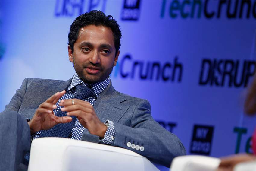 "Chamath Palihapitiya of speaks onstage at the TechCrunch Disrupt NY 2013 in New York City. ""The short-term, dopamine-driven feedback loops that we have created are destroying how society works,"" he said about Facebook in a recent interview with The Guardian."