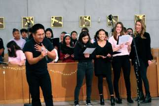 Youth from Toronto's St. Gabriel's Parish host a talent night to raise funds for the eight pilgrims who will attend World Youth Day in Panama in January.
